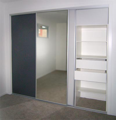 Cupboards mirror doors