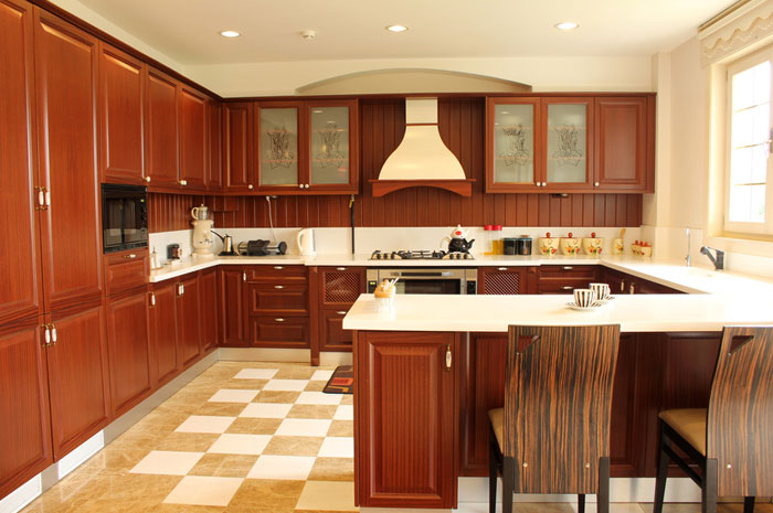 Contemporary kitchen island - Kitchen built in cupboards designs ...